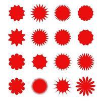 Price tag shape starburst set vector