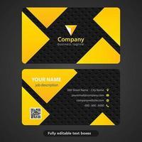 Abstrakte gelbe Dreieck-Visitenkarte