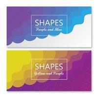 Blend Shapes background banner vector