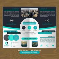 Blue Double Page Modern Business Brochure