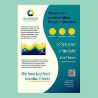 Modern Business Brochure with Graphs and Infographics vector