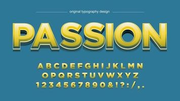 Yellow Glossy 3D Bold Uppercase Typography