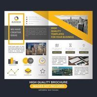 Folleto de negocios amarillo moderno abstracto