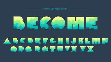 Colorful Abstract Shapes Artistic Font