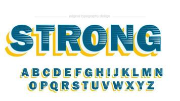Blue Yellow Bold 3D Sports Typography