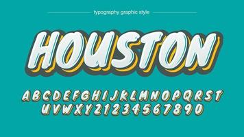 Grafitti-Art-mutiger Kalligraphie-Entwurf vektor