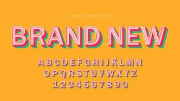 Retro Color Style Bold Uppercase Typography