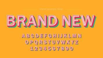Retro Farbart-mutige Versalien-Typografie vektor