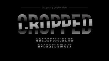 Tipografia maiúscula em negrito fatiada abstrata