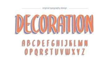 Lekfull Orange Display Artistic Font