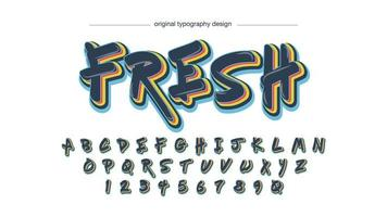 Colorful Grafitti Style Typography vector
