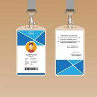 Modèle de carte d'identité bleue NIce vecteur