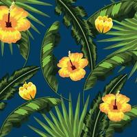 fundo de folhas naturais de flores tropicais