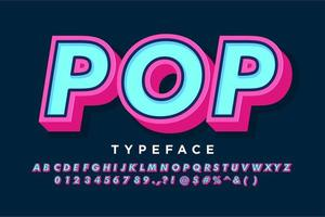 Strong bold pop art alphabet for vintage banner