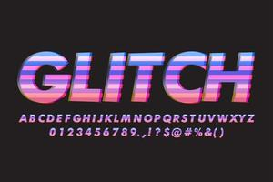 Modern font style with glitch effect