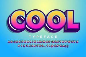Style alphabet dégradé moderne
