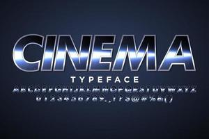 Modern alphabet with cinematic effect for movie banner