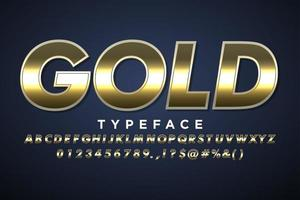 Gold metallic alphabet style