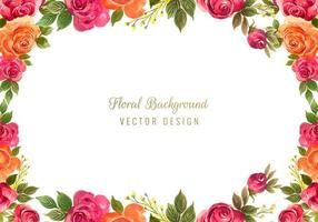 decorative floral frame background