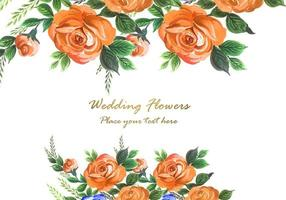 Watercolor decorative flowers background
