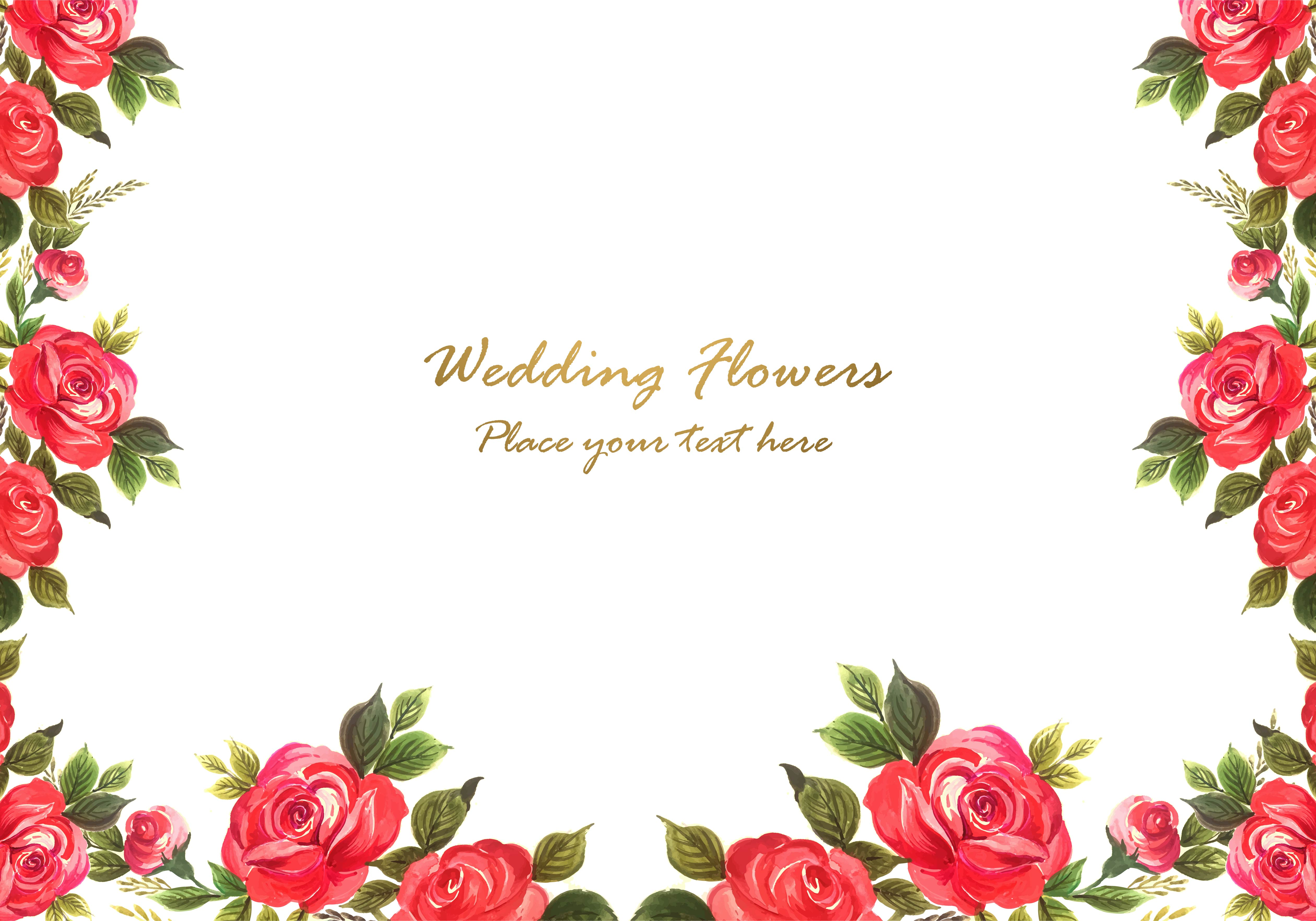 Watercolor Flowers Background Download Free Vectors Clipart