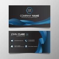 Business card modern blue and Black template
