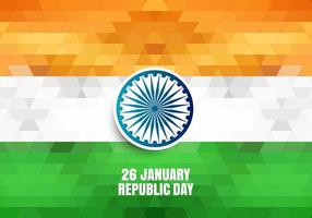Republic day of India geometric background