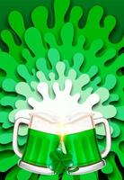 Cheers on Saint Patrick's day splash background vector