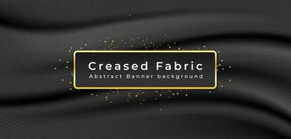 Creased fabric banner with striped pattern vector