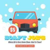 Car Wash Poster Vector