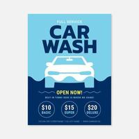 Car Wash Service Poster Template vector