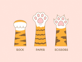 Paw Sign Of Rock Paper Scissors Game vector