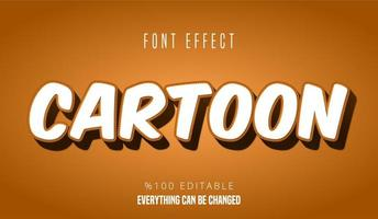 Efecto de texto de dibujos animados
