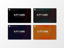Gift or Business Card abstract curve Design collection