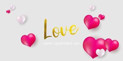 Modèle de bannière de la Saint-Valentin