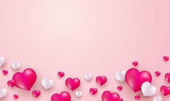 Modèle de bannière de Saint Valentin.