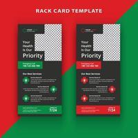Medical dl rack card template design vector