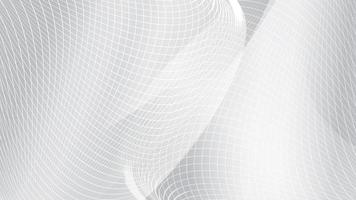 Abstract white wave mesh background vector