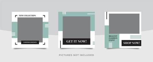 Modern Social media pack template  vector