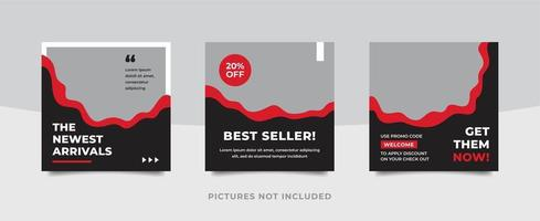 Social media pack template for discounts