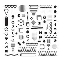 Collection of geometric abstract elements