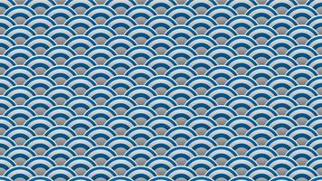 Japanese ocean wave pattern background vector