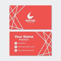 Simple and clean red business card
