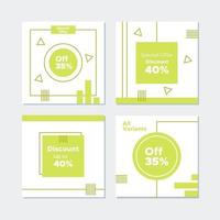 Geometric Discount and Social Media Post Banner  vector