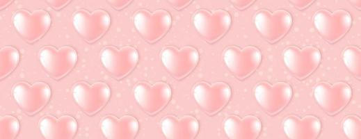 Seamless pattern with Pink Heart Balloons