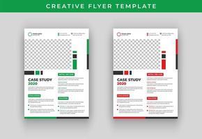 Design de modelo de panfleto de vetor de conferência de negócios