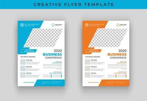 Business conference vector flyer template