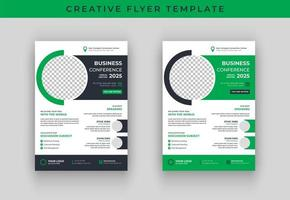 Business conference flyer template design