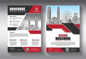 Business template with angled geometric shapes