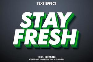 Editable text green and white effect